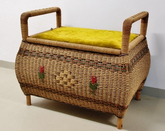 30s 40s hamper basket chest linen box stool hamper