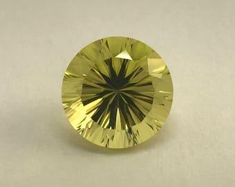 Oro Verde Quartz Crystal Loose Faceted Round Fancy Cut Gemstone 13mm 9ct