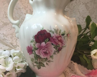 """Baum Brothers Formalities Victorian Rose Pitcher - 10""""x7"""""""