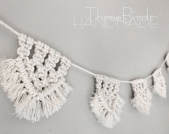 Macrame bunting flags