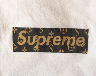 Supreme Louis Vuitton Box Logo Tee ~ Early 2000s Collab Shirt ~TAGS: Polo Ralph Lauren Tommy Hilfiger Bape Nautica Champion Nike Adidas