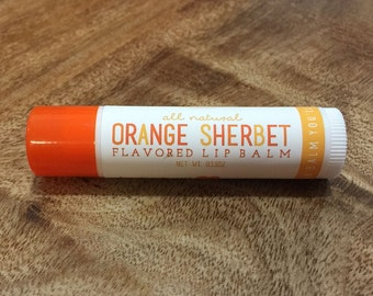ORANGE SHERBET Lip Balm - All Natural - Homemade
