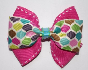 Colorful Double Boutique Hair Bow