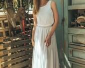 70s wedding dress, 1970 wedding dress, White harley quinn wedding dress, Vintage boho wedding dress, Jasmin calla white inside