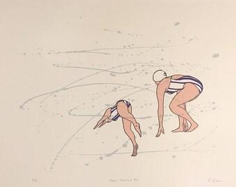 Swim Practice #2 - Print, Art by Annie Lee-Zimerle