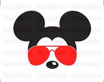 mickey mouse svg sunglasses Disney Mickey Mouse Sunglasses svg mickey mouse ears svg mickey mouse head svg files for Cricut Silhouette