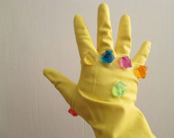 Infinity Gauntlet 1:1 Replica Guardians of the Galaxy Thanos Cosplay Gems Stones Glove Right Hand Wearable