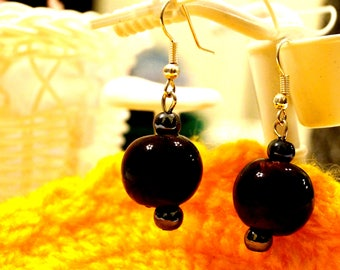 KRAFFITTI - Deep Red Bead Earrings