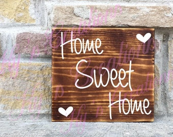 Home sweet home wooden sign, wooden sign; home decor; welcome sign; home sweet home