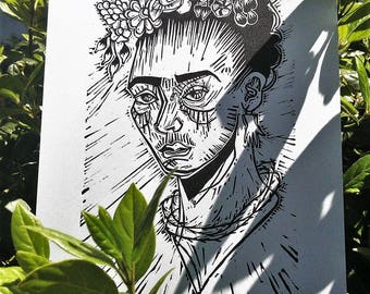 how to draw frida kahlo