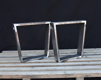 Steel Bench Legs, Coffee Table Legs, Metal legs, Square Bench Base, Coffee Table Base,  SET(2)