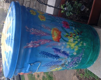 Hand Painted Compost Bin