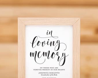 In Loving Memory Sign 02 Printable