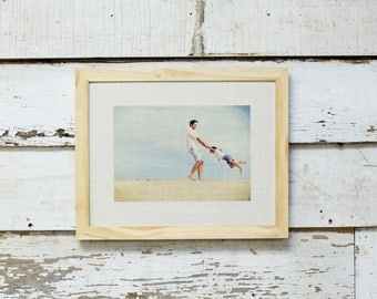 Personalized - Your Photo on a Framed Burlap Print - 12X12 inch - Baby. Wedding Gift - Wall Art -