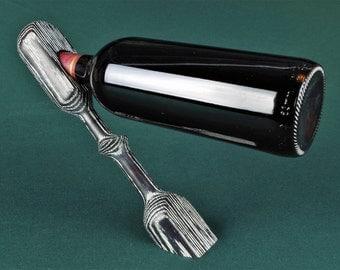 Inovative Wine Bottle Stand in Limed Black Oak or oiled Brown Oak
