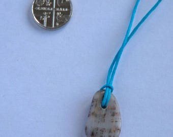 Rosie's Stoneage beach pebble pendant necklace - West Bay #4247