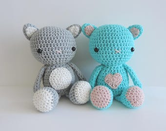 Handmade cat soft toy crochet cotton