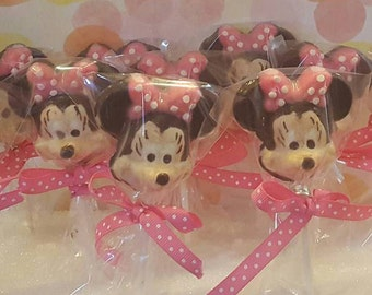 Minnie Mouse Chocolate Lollipops