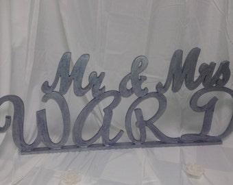 Personalized Mr. & Mrs. table topper