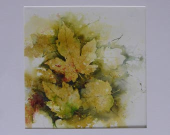 Dry Leaves - Original Watercolour by Sue Rubira
