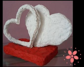 """Modern sculpture """"Hearts"""""""