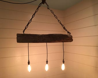 "40"" Reclaimed Industrial Lighting Chandelier"