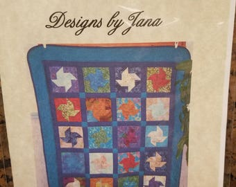 3-D Pinwheel quilt pattern