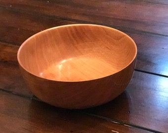Hand Turned Cherry Wood Bowl