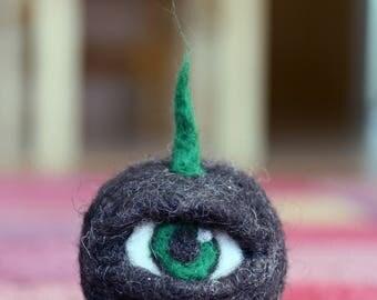 Felted eye creature