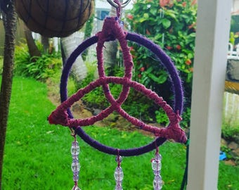 Triquetra Dream Catcher Purple