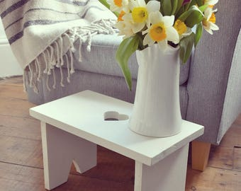 Bespoke Country Cottage Heart Stool