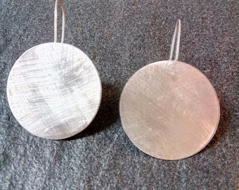 Handmade 925 Silver earrings with textured effect
