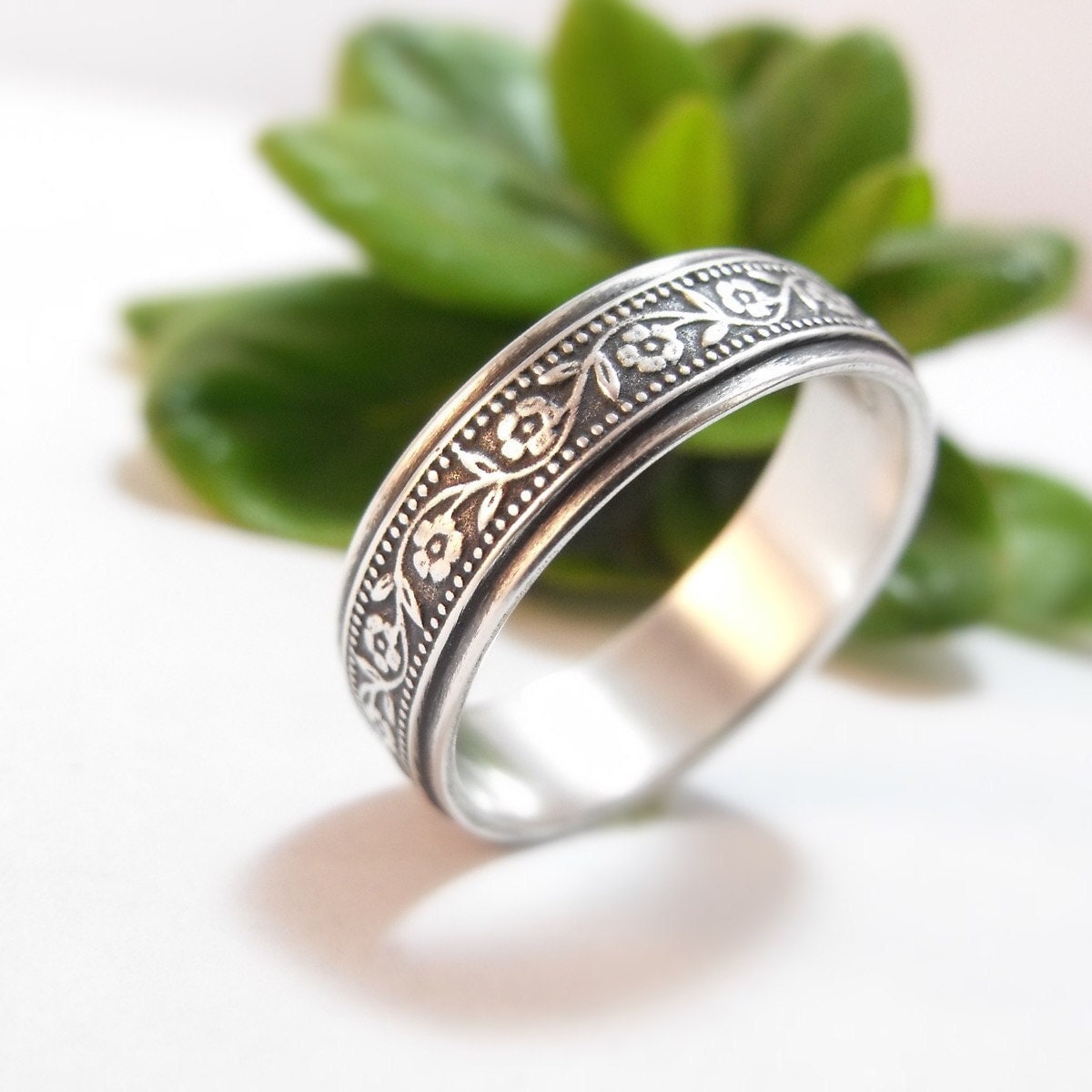 Sterling Silver Wedding Band Womens Mens
