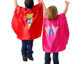 Custom Super Hero Cape for Kids: You Choose Colors, Emblem, Initial. Made to Order - Personalized Custom Cape - Superhero Cape - Custom Cape