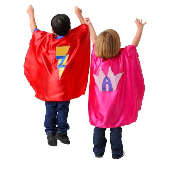 Custom Super Hero Cape for Kids: You Choose Colors, Emblem, Initial. Made to Order
