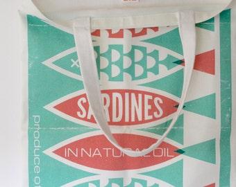 Vintage Packaging Shopper Tote Bag - Sardines