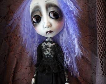 Loopy Southern Gothic Goth Steampunk Art Doll Fanny Fright