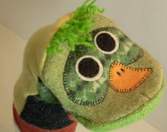Handpuppet of wool named Bramble