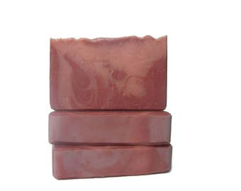 Crisp Apple Rose Olive Oil Soap - Cold Process Handmade with Swirls - Vegan - Gluten Free - Cruelty Free