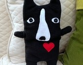 Bobby ~ The Boston Terrier Bummlie ~ Stuffing Free Dog Toy ~ Ready To Ship Today