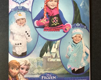 Disney's Frozen Pattern for Children's Hats, Mittens and Scarves Simplicity 8029