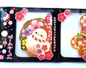 Year of the Rooster  - 2017  Stickers - Japanese Chiyogami Paper Stickers - Cherry Blossoms Games and more (S216) 40 Stickers
