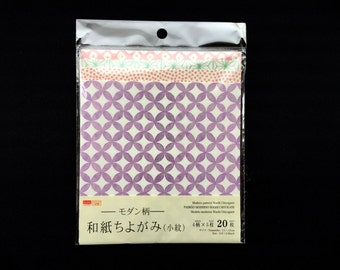 Japanese  Paper - Chiyogami Paper - Origami Paper - Washi Paper - 4 Patterns 20 Sheets 15 x 15 cm 5.9 x 5.9 inch Modern Pattern