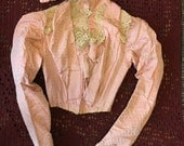 Antique Pink Victorian bodice blouse