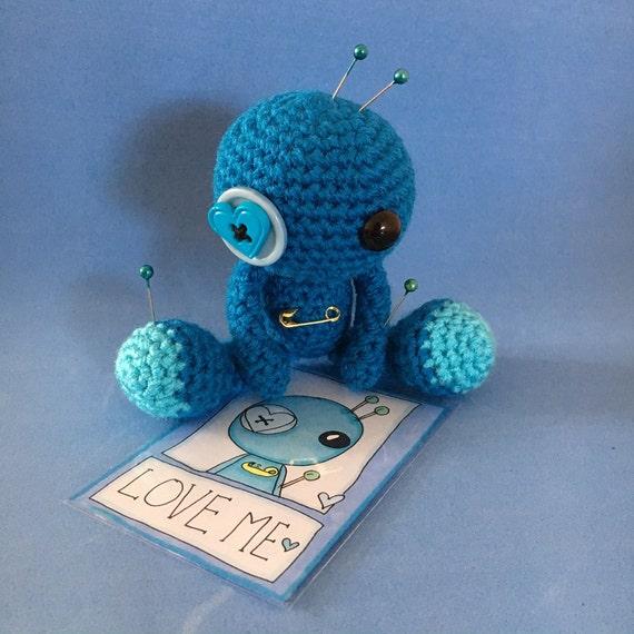 Amigurumi Voodoo Doll : Amigurumi Blue Love Voodoo Doll