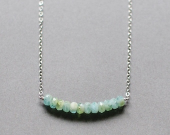 aruba - faceted blue and green necklace
