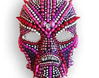Powerful Feminist Pink Pussy Woman Warrior Mask Wall Sculpture