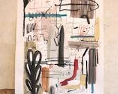 Original Faye Moorhouse painting - Brain Thoughts - FREE SHIPPING