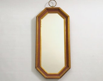 vintage mid century turner wall accessory deco style oblong octagonal mirror