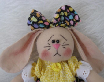 Yellow Itty Bitty Bunny